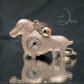 KEY CHAIN, Odd Basset Hound Clock